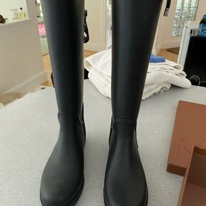 Black coach rain boots new